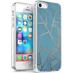 iMoshion Coque Design iPhone 5 / 5s / SE - Cuive graphique - Bleu