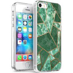 iMoshion Coque Design iPhone 5 / 5s / SE - Cuive graphique - Vert