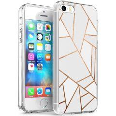 iMoshion Coque Design iPhone 5 / 5s / SE - Cuive graphique - Blanc