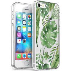 iMoshion Coque Design iPhone 5 / 5s / SE - Feuilles - Vert