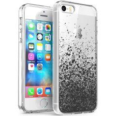 iMoshion Coque Design iPhone 5 / 5s / SE - Eclaboussures - Noir
