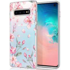 iMoshion Coque Design Samsung Galaxy S10 - Fleur - Rose