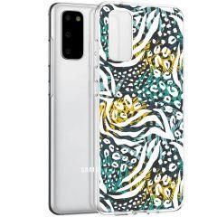 iMoshion Coque Design Galaxy S20 - Jungle - Blanc / Noir / Vert