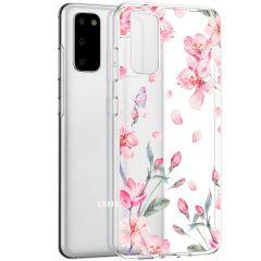 iMoshion Coque Design Samsung Galaxy S20 - Fleur - Rose