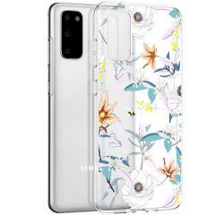 iMoshion Coque Design Samsung Galaxy S20 - Fleur - Blanc