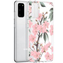 iMoshion Coque Design Samsung Galaxy S20 - Fleur - Rose / Vert
