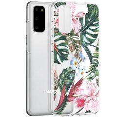 iMoshion Coque Design Samsung Galaxy S20 - Jungle - Vert / Rose