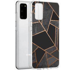 iMoshion Coque Design Galaxy S20 - Cuive graphique - Noir / Dorée
