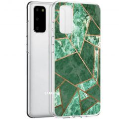 iMoshion Coque Design Galaxy S20 - Cuive graphique - Vert / Dorée