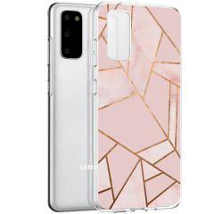 iMoshion Coque Design Galaxy S20 - Cuive graphique - Rose / Dorée
