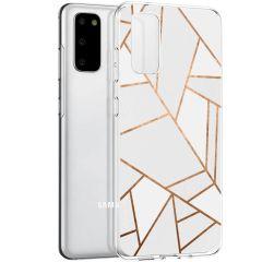 iMoshion Coque Design Galaxy S20 - Cuive graphique - Blanc / Dorée