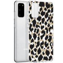 iMoshion Coque Design Samsung Galaxy S20 - Léopard - Dorée / Noir