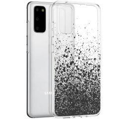 iMoshion Coque Design Samsung Galaxy S20 - Eclaboussures - Noir