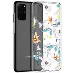 iMoshion Coque Design Samsung Galaxy S20 Plus - Fleur - Blanc