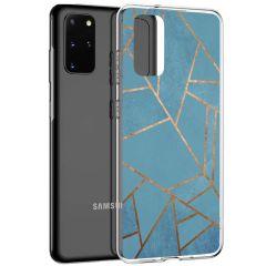 iMoshion Coque Design Galaxy S20 Plus - Cuive graphique - Bleu