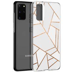 iMoshion Coque Design Galaxy S20 Plus - Cuive graphique - Blanc