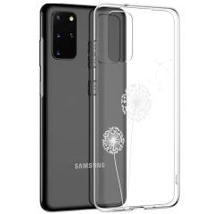 iMoshion Coque Design Samsung Galaxy S20 Plus - Pissenlit - Blanc