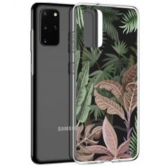 iMoshion Coque Design Samsung Galaxy S20 Plus - Jungle - Vert / Rose