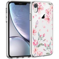 iMoshion Coque Design iPhone Xr - Fleur - Rose