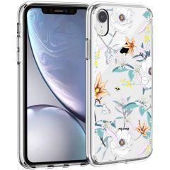 iMoshion Coque Design iPhone Xr - Fleur - Blanc