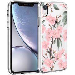 iMoshion Coque Design iPhone Xr - Fleur - Rosa / Vert