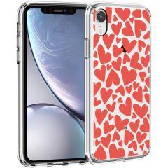 iMoshion Coque Design iPhone Xr - Cœurs - Rouge