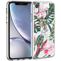 iMoshion Coque Design iPhone Xr - Jungle - Vert / Rose