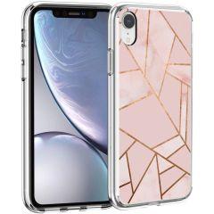 iMoshion Coque Design iPhone Xr - Cuive graphique - Rose / Dorée