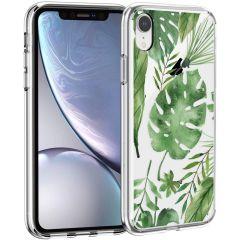 iMoshion Coque Design iPhone Xr - Feuilles - Vert