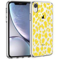 iMoshion Coque Design iPhone Xr - Léopard - Jaune