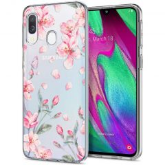 iMoshion Coque Design Samsung Galaxy A20e - Fleur - Rose