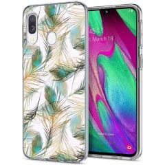 iMoshion Coque Design Samsung Galaxy A20e - Paon - Vert / Dorée