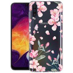 iMoshion Coque Design Samsung Galaxy A50 / A30s - Fleur - Rose