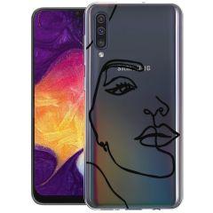 iMoshion Coque Design Galaxy A50 / A30s - Visage abstrait - Noir