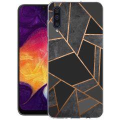 iMoshion Coque Design Galaxy A50 / A30s - Cuive graphique - Noir
