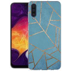 iMoshion Coque Design Galaxy A50 / A30s - Cuive graphique - Bleu