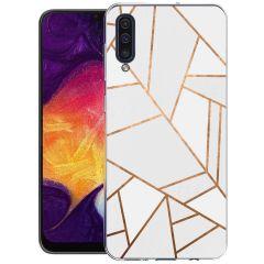 iMoshion Coque Design Galaxy A50 / A30s - Cuive graphique - Blanc
