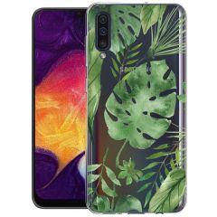 iMoshion Coque Design Samsung Galaxy A50 / A30s - Feuilles - Vert