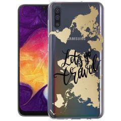 iMoshion Coque Design Galaxy A50 / A30s - Let's Go Travel - Noir