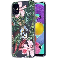 iMoshion Coque Design Samsung Galaxy A51 - Jungle - Vert / Rose