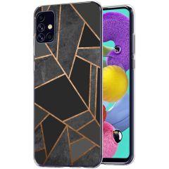 iMoshion Coque Design Galaxy A51 - Cuive graphique - Noir / Dorée