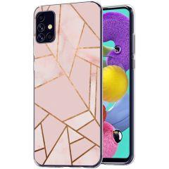 iMoshion Coque Design Galaxy A51 - Cuive graphique - Rose / Dorée