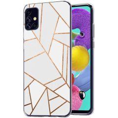 iMoshion Coque Design Galaxy A51 - Cuive graphique - Blanc / Dorée
