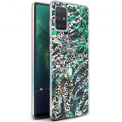 iMoshion Coque Design Galaxy A71 - Jungle - Blanc / Noir / Vert