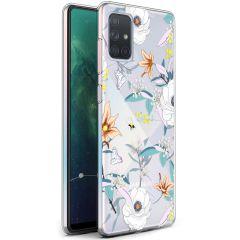 iMoshion Coque Design Samsung Galaxy A71 - Fleur - Blanc