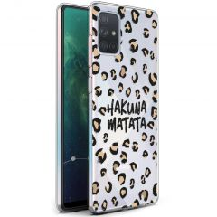 iMoshion Coque Design Samsung Galaxy A71 - Léopard - Brun / Noir