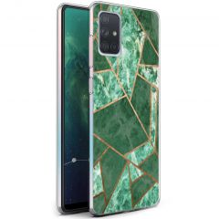 iMoshion Coque Design Galaxy A71 - Cuive graphique - Vert / Dorée