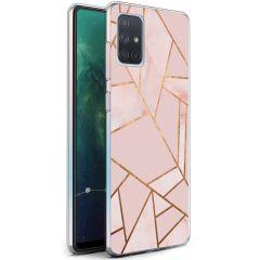 iMoshion Coque Design Galaxy A71 - Cuive graphique - Rose / Dorée