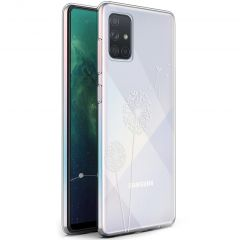 iMoshion Coque Design Samsung Galaxy A71 - Pissenlit - Blanc