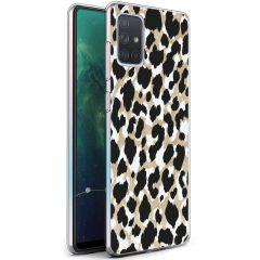 iMoshion Coque Design Samsung Galaxy A71 - Léopard - Dorée / Noir